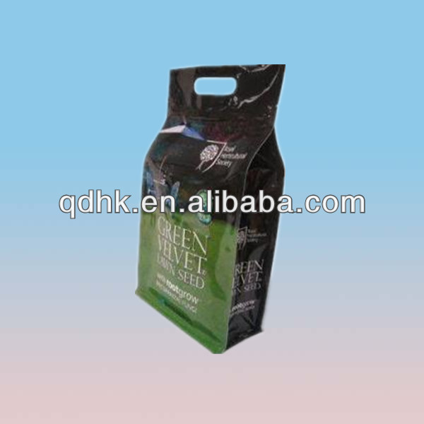 block bottom zipper bag for food packaging with great stability and more content