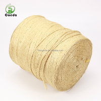 Natural Color 100% Sisal Fibre Braided Twisted Thick Hemp Rope