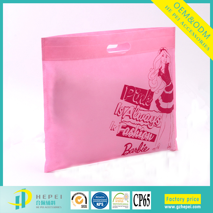 Foldable design pp spunbonded pink nonwoven garment bags