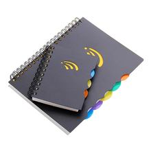 Custom a5 sprial notebook plastic pvc waterdichte cover school notepad ringband planner dagboek briefpapier voor studenten
