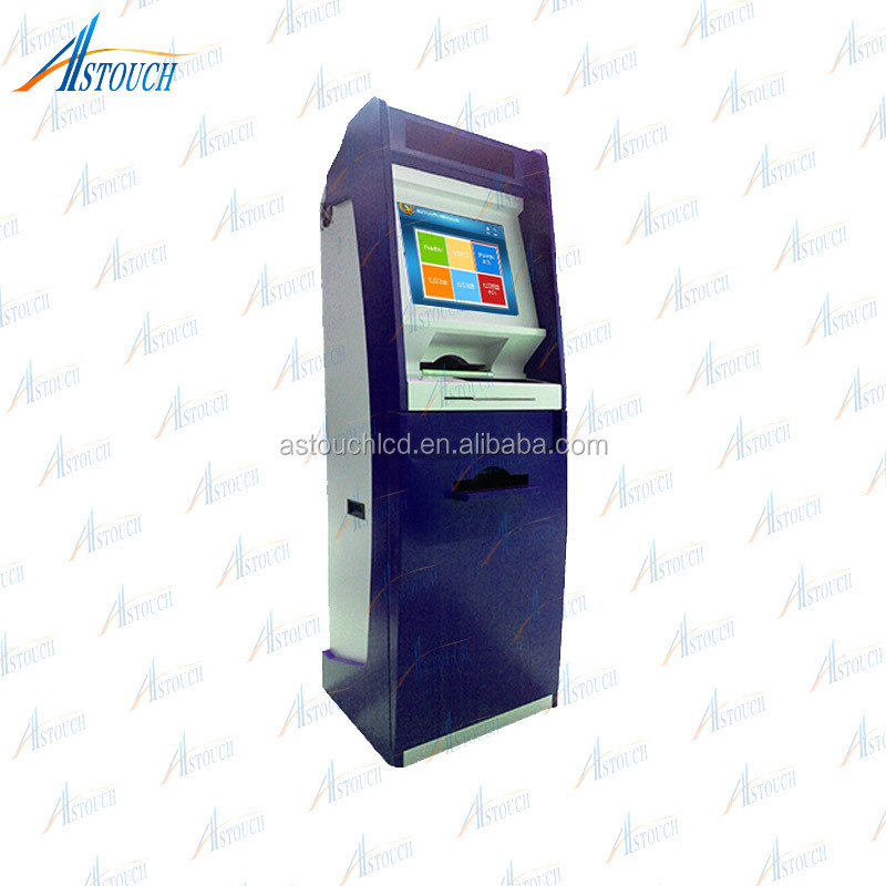 Touch screen Automatic self -services kiosk payment machine