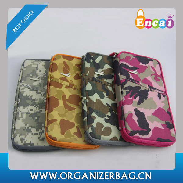 Encai Camouflage Passport Bag Organizer High Quality Credit Cards Passport Holder