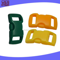 Pet buckle for 10mm webbing,plastic curved adjustable buckle,plastic buckle for dog collar