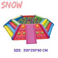 SNOWPLAY pop up kids soft play ball pool indoor playground ball pool and Soft pool pit