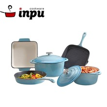 Wholesale Smooth Surface Enamel Cast Iron Cookware