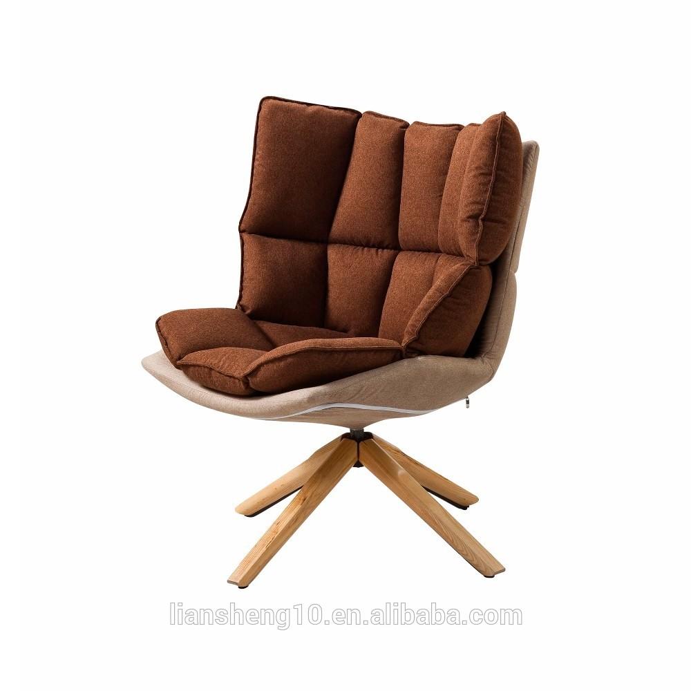 scandinavische antieke meubels vintage hoge rug lederen draaistoel voor woonkamer
