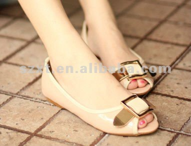 Stylish Women Flat Shoes Peep Toe Lady Flats Cheap Flats For Lady ...