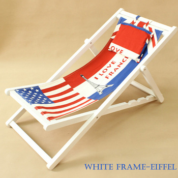 2018 High Quality American Flag Pattern Kids Wholesale Wooden Beach Chair