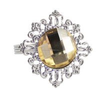 wholesale diamond make wedding napkin rings silver plated