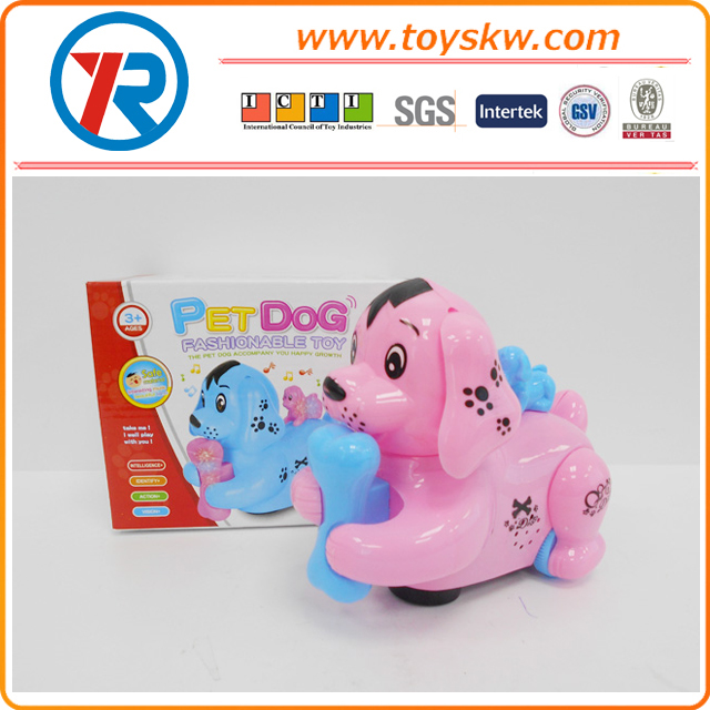 Hot selling Cartoon Electric Toys Dog With Light And Music,B/O animal toy for kids
