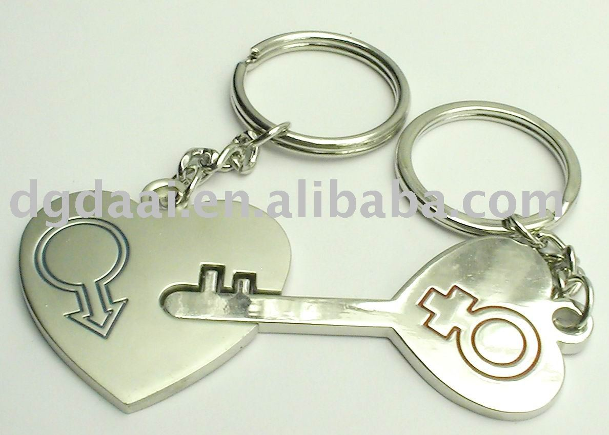 The Heart And Key Shaped Love Keychain