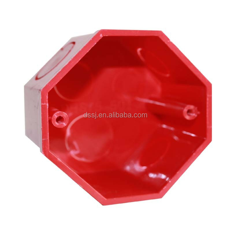 Octagonal Shape Colored 78*60mm PVC Switch Box