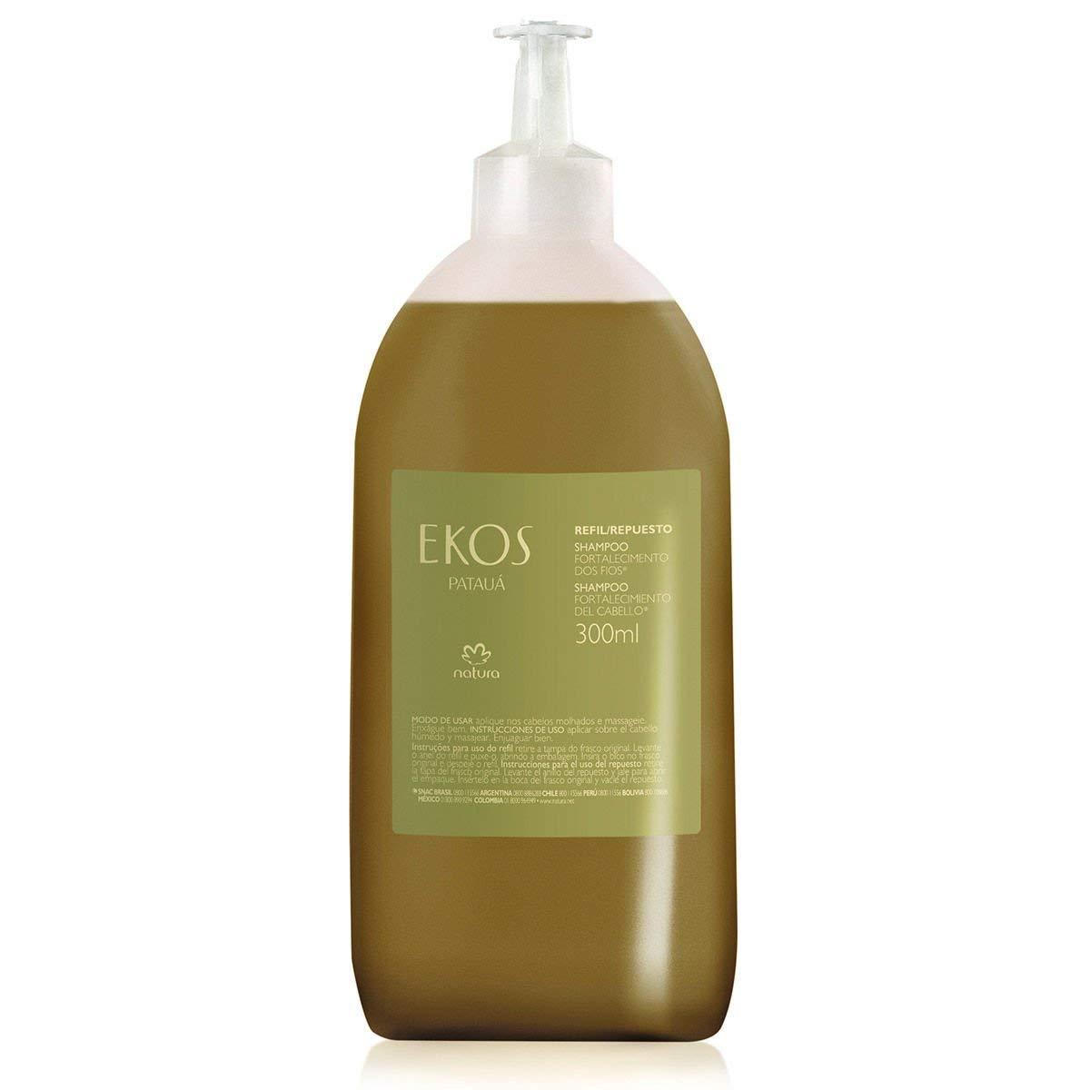 Linha Ekos (Pataua) Natura - Shampoo Fortalecimento dos Fios (Refil) 300 Ml - (Natura Ekos (Pataua) Collection - Hair Strengthening Shampoo (Refill) 10.14 Fl Oz)
