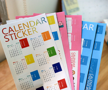 Calendar Sticker 2016 Diary Planner Notebook Journal Mini Supplement Index Tag Bookmark For SCRAPBOOKING CARDS