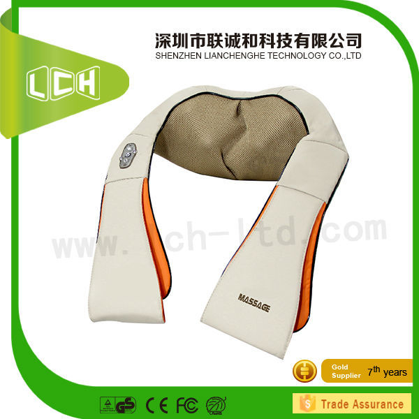 2015 Top Selling BLH Deluxe shiatsu neck kneading shoulder massage pads with heating for health care China factory