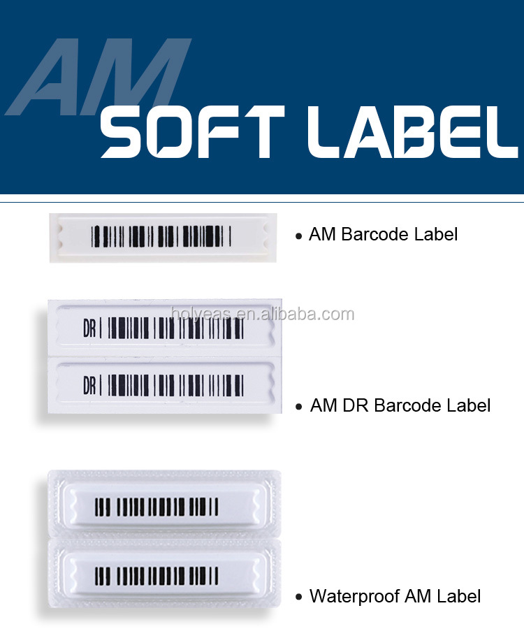 Good Adhesive Anti-theft 3 Trips AM 58khz DR Sticker EAS Soft Label for Grocery store, Cosmetic Store