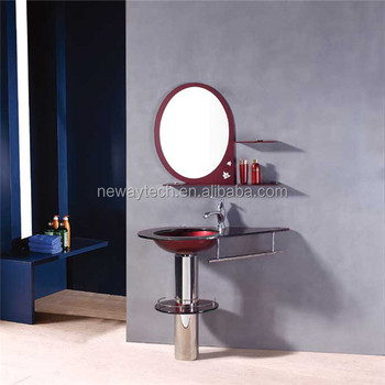 Simple Design Modern Gl Bowl Wash Basin With Stand
