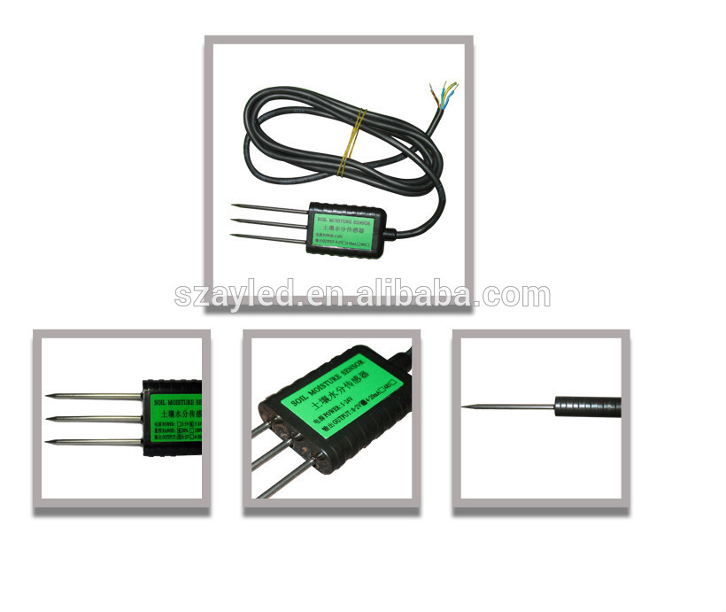 capacitive soil moisture sensor probe under soil sensor greenhouse