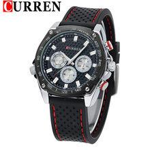 2016 CURREN, люксовые брендовые военные часы, мужские кварцевые аналоговые часы с резиновым ремешком, мужские спортивные часы, армейские часы(Китай)