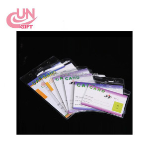 Waterproof Clear Plastic Vertical Name Tag Soft Film Badge ID Card Holders