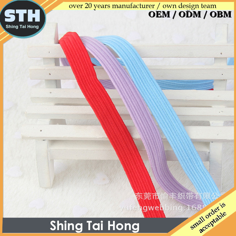 10mm Polyester Elastic Band for Home Textile Bag Garment