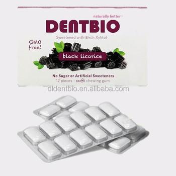 Gmo Free Black Licorice Sugar Free Chewing Gum - Buy Bulk Sugarless  Gum,Stevia Breath Gum,Smartmouth Sugar Free Gum Product on Alibaba com
