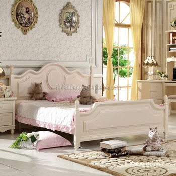 Korean Style Solid Wood Home Furniture Modern Bedroom Set