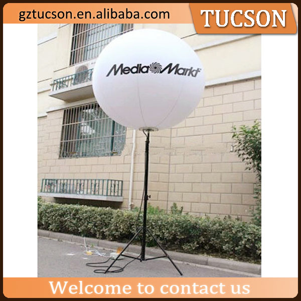 Diameter 5ft inflatable illumination tripod balloon with led light for events