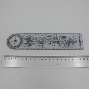 Plastic PVC Double Pain Ruler with Scale