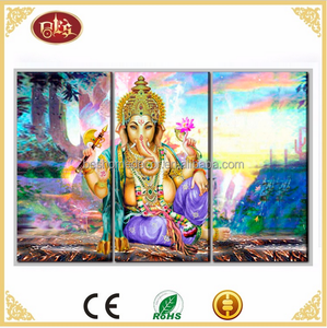 3 pieces printed type canvas wall art ganesha paintings modern art