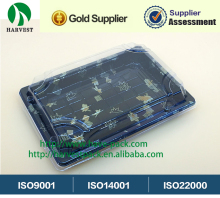 Disposable Plastic Take Away Printing Sushi Tray for food packaging plastic blister tray--HP-03