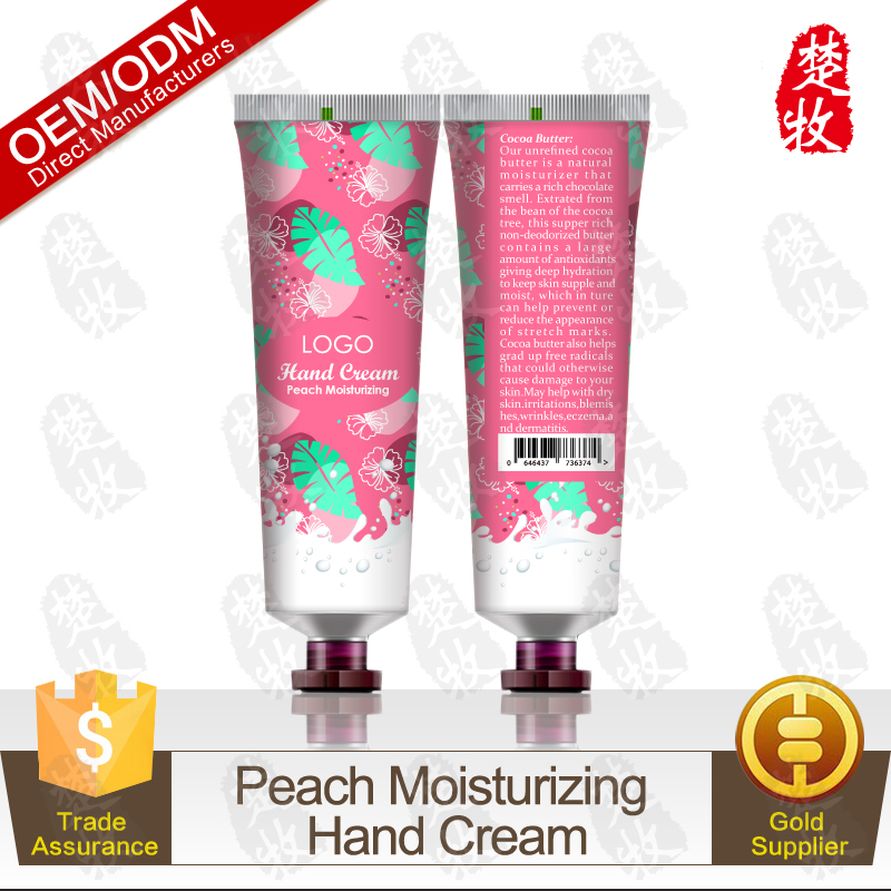 Hot Selling Portable Travelling Peach Moisturizing Hand Lotion Cream OEM/ODM Manufacturer Supply
