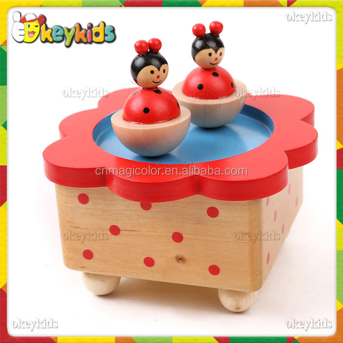 2016 wholesale baby wooden music box toy,popular kids wooden music box toy,best sale children wooden music box toy W07B001