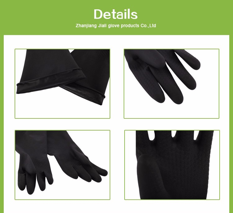 Alibaba cheap price sun brand industrial black rubber work safety glove