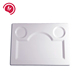 hot sale hotel big round white plastic melamine divided sauce plates, plates rectangular dishes, divided plates