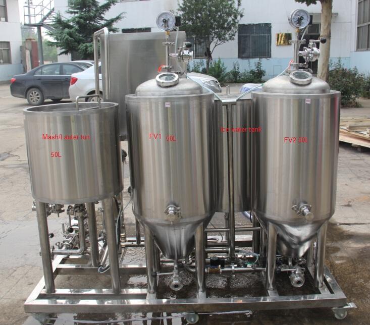 Alibaba China Market Small Brewery System 50l Mini Brewing