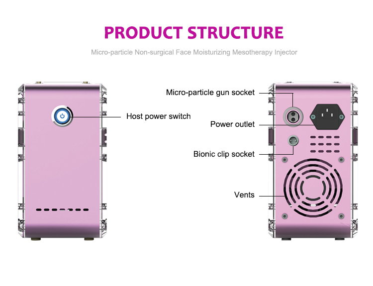 Newest Micro-particle electroporation mesotherapy Face Moisturizing Mesotherapy Injector