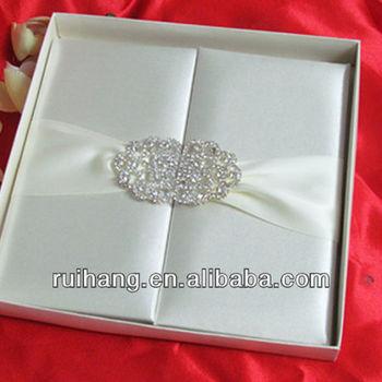 luxury crystal wedding invitation card ws001 buy silk wedding