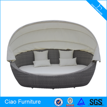 Oval Sun Bed With Canopy Rehau Rattan Outdoor Sofa Bed - Buy Outdoor Sofa  Bed,Outdoor Sofa Bed,Outdoor Sofa Bed Product on Alibaba.com