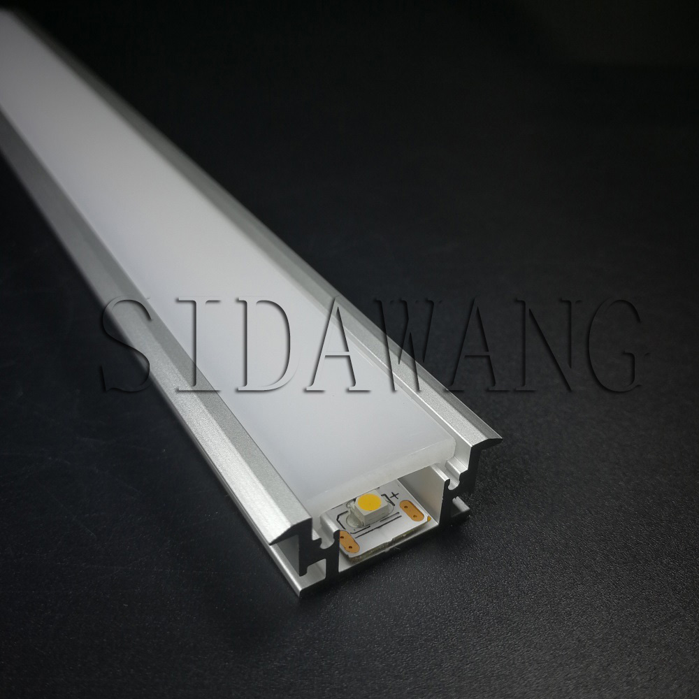 Waterproof led profile for floor, strong PC diffused cover,3mm thickness