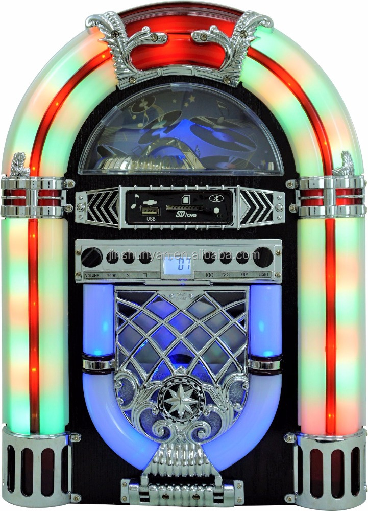 Table-top Mini Jukebox CD player USB,SD,MP3,AUX - ANKUX COM
