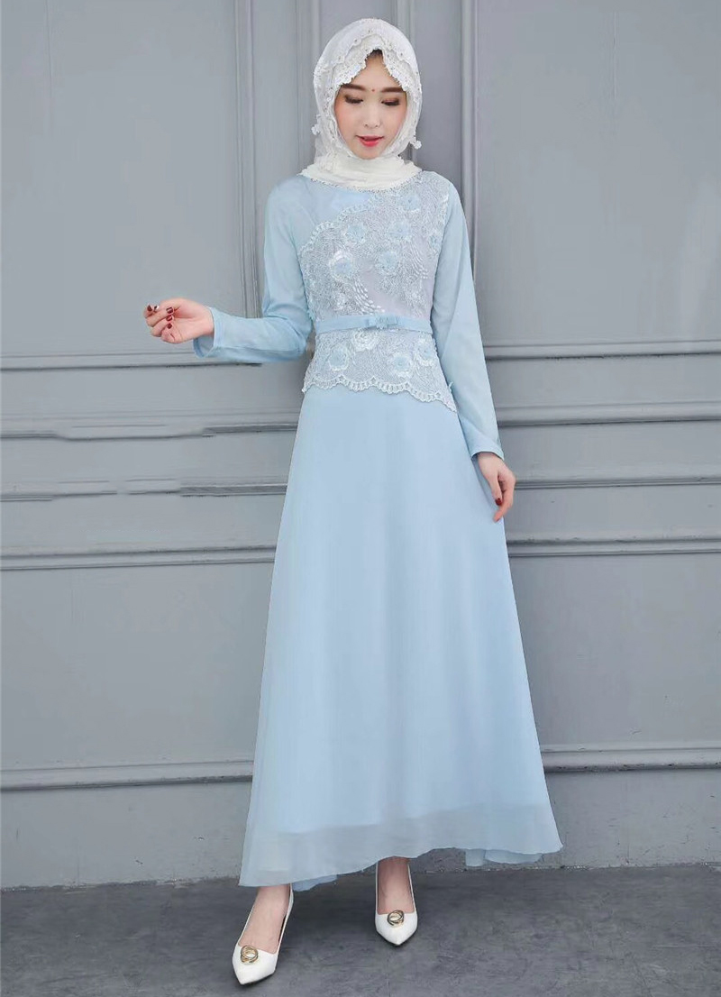 Muslim Clothing Latest Abaya Designs Silk Kaftan Wedding Islamic Dress