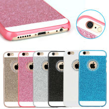Hot Selling Shiny Hard PC Case Cover for iPhone 6 with Diamond Hole for Logo