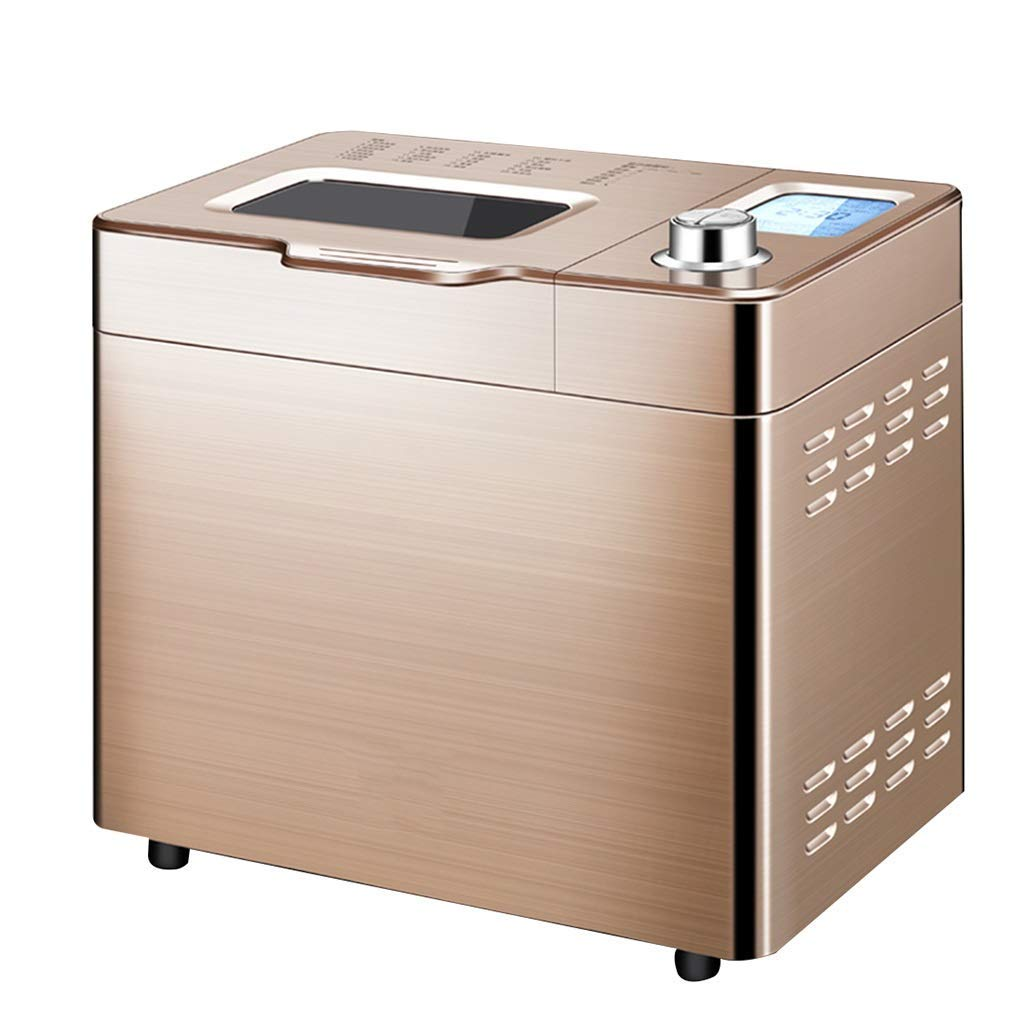 Bread machine, golden bread machine, can make bread, home multi-function kneading machine, breakfast machine, roasting barbecue, easy to make breakfast (Color : Gold, Size : 372432cm)