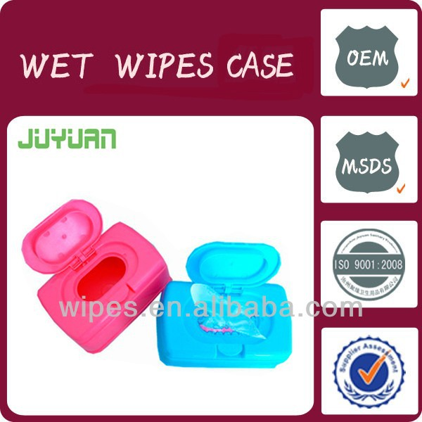 plastic baby tissue containers/baby cleaning wipes