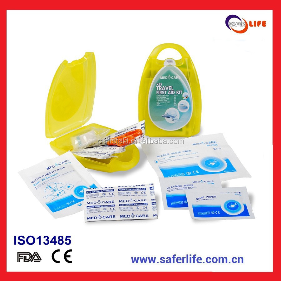 Mini Plastic First Aid kit for Promotional medical gift