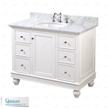 42 Inch White Modern Bathroom Vanities With Solid Wood Legs Buy 42
