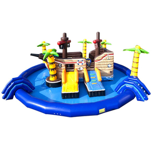 Adult Floating Waterpark Theme Items Splash Mini Children Amusement Rides Equipment Indoor Inflatable Aqua Water Park For Sale