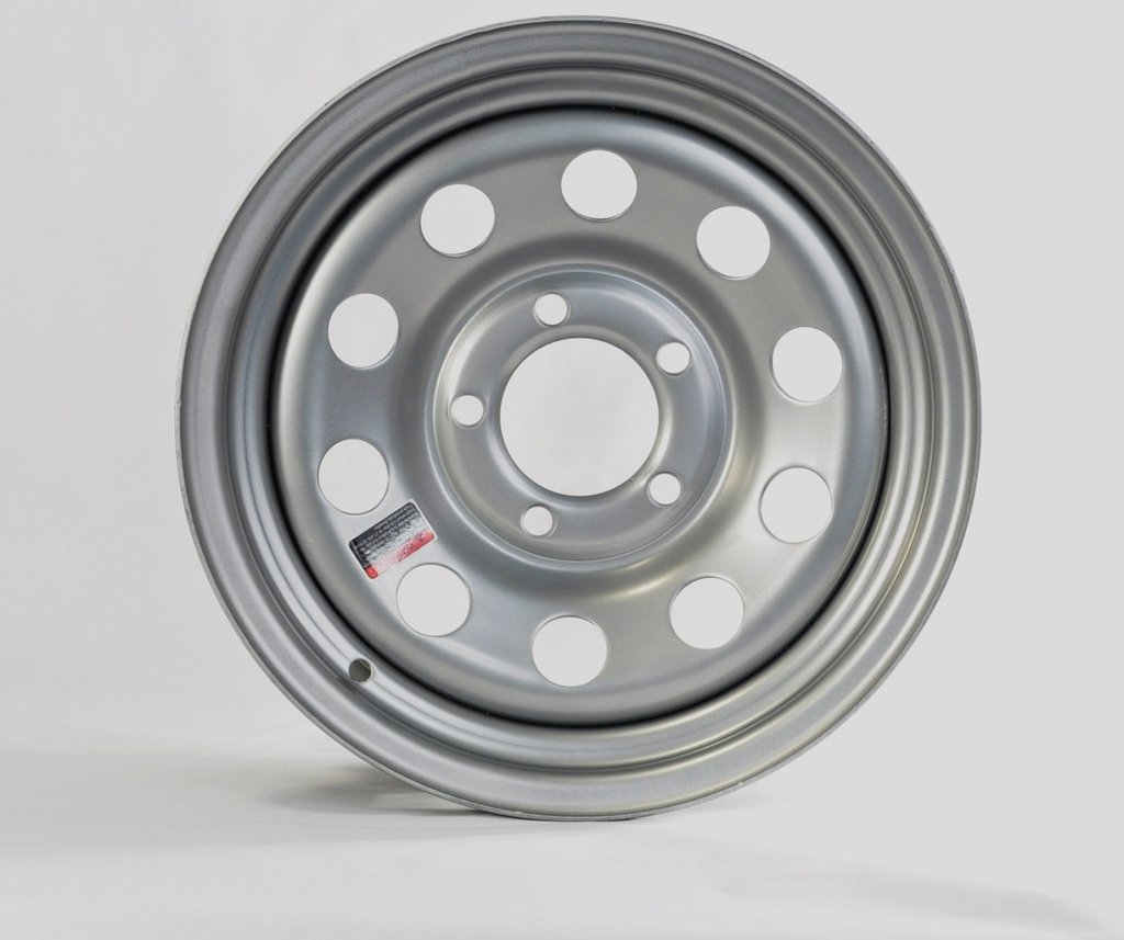 "eCustomRim Trailer Rim Wheel 14"" x 5.5"" 5 Lug Hole Bolt Wheel Gray Grey Modular Design"
