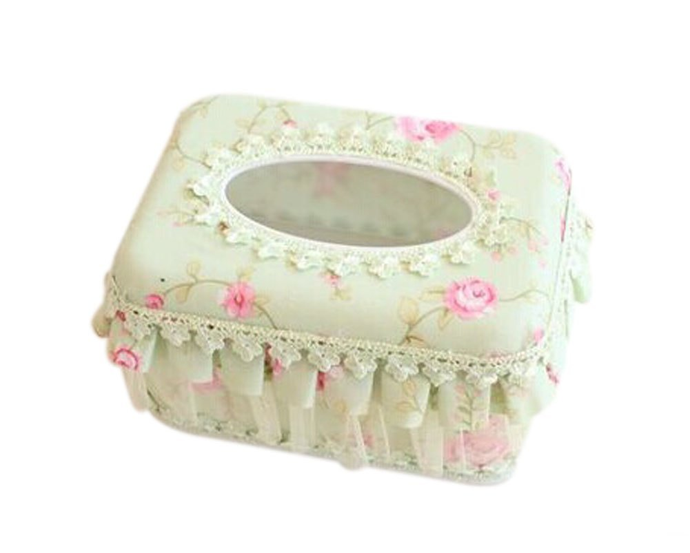 Cute Apple Green Fabric Tissue Holder Tissue Box Cover(Short)